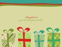 Retro regali di Natale Fotografia Stock