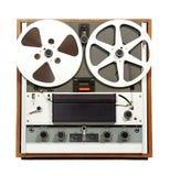 Retro registratore aperto dell'audio della bobina Immagine Stock