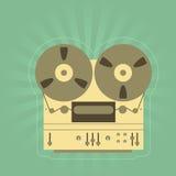 Retro registratore della aperto bobina Immagini Stock