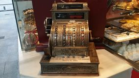Retro registratore di cassa Fotografia Stock Libera da Diritti