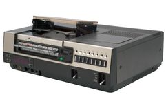 retro rejestrator wideo obraz stock