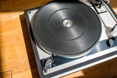 Retro- Rekordplattform-Drehscheibe Lizenzfreie Stockfotografie