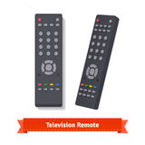 Retro remote control at different angles. Flat style illustration. EPS 10 vector Stock Images