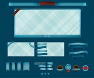 Retro rengöringsdukelement Arkivfoton