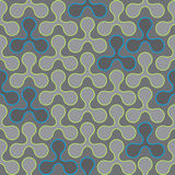 Retro repetitive wallpaper - Vintage vector pattern. Grey stock illustration