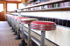 Retro- Restaurant Lizenzfreie Stockfotografie