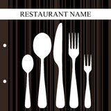 Retro restaurant design Royalty Free Stock Photos