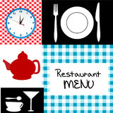 Retro restaurant menu Royalty Free Stock Image