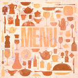 Retro restaurant menu card design. Royalty Free Stock Photo