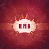 Retro restaurant menu card design. Stock Image