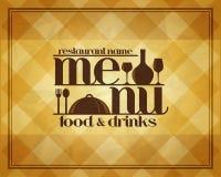 Retro Restaurant menu food and drinks. Retro Restaurant food and drinks menu design style Royalty Free Stock Photo