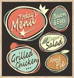 Retro restaurant menu template Royalty Free Stock Photography