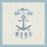 Retro restaurant seafood menu. Card design Royalty Free Stock Photography