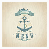 Retro restaurant seafood menu Royalty Free Stock Photo