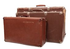 Retro resväska två Fotografering för Bildbyråer