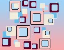 Retro reticolo dei quadrati Immagini Stock Libere da Diritti