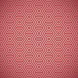 Retro reticolo di colore rosso di anni settanta Immagini Stock