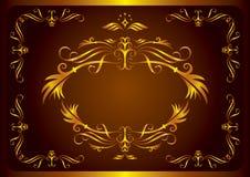 Retro reticolo floreale Fotografia Stock