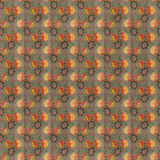 Retro reticolo giallo rosso della carta da parati di ripetizione di Brown Fotografie Stock Libere da Diritti