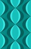 retro reticolo ovale blu degli anni 50 Immagine Stock
