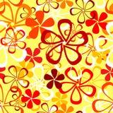 Retro reticolo senza giunte con i fiori Fotografia Stock