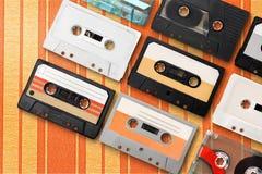 Retro. Music musical nostalgia speaker tape sequence Stock Images