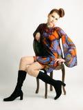 Retro revival fashion portrait Stock Photo