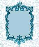 Retro revival label. Retro revibal vintage label blue toned color vector illustration Stock Image