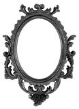 Retro Revival Old Ellipse Black Frame Stock Image