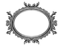 Retro Revival Old Ellipse Frame Royalty Free Stock Photography