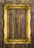 Retro Revival Old Gold Picture Frame Stock Images