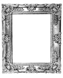 Retro Revival Old Silver Frame. Old Silver Picture Frame on white background Stock Photo
