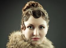 Retro revival portrait Royalty Free Stock Images