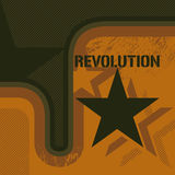 Retro revolutieachtergrond Royalty-vrije Stock Afbeelding