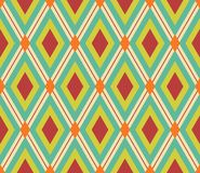 Retro rhombic background Royalty Free Stock Image
