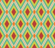 Retro rhombic bakgrund Royaltyfri Bild