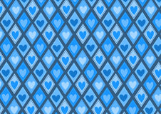 Retro rhombs with hearts pattern Stock Photography