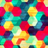 Retro rhombus bezszwowa tekstura Zdjęcie Stock