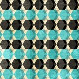 Retro rhombus seamless pattern Stock Image