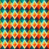 Retro rhombus seamless pattern Stock Photography