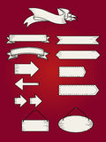 Retro ribbon banners set. Beautiful blank for decoration graphic Stock Photo