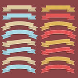 Retro Ribbon Set Stock Photo