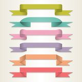 Retro ribbon set Stock Photography