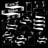 Retro Ribbon Set Stock Photography