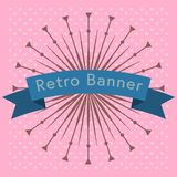 Retro ribbon vector design. Stock Photo