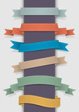 Retro ribbons Stock Photos