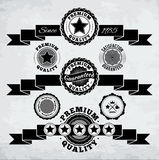 Retro ribbons and badges Stock Image