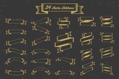 24 Retro ribbons banner elements Stock Photo