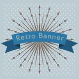 Retro ribbon vector design. Royalty Free Stock Photo