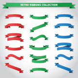 Retro Ribbons Collection. Set of retro / vintage ribbons vector illustration Stock Images
